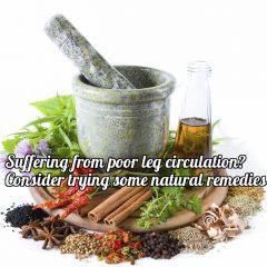 poor leg circulation remedies
